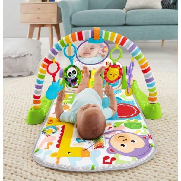 Fisher-Price Αγόρι, Κορίτσι 0-6 μηνών, 6-12 μηνών Fisher-Price Deluxe Εκπαιδευτικό Γυμναστήριο - Μουσικό Πιανάκι FWT15