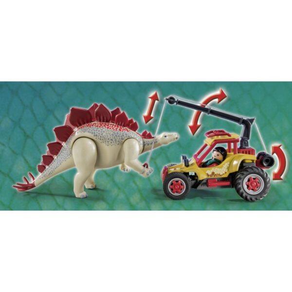 Playmobil Dinos Εξερευνητικό όχημα και Στεγόσαυρος 9432 Αγόρι 4-5 ετών, 5-7 ετών  Playmobil, Playmobil Dinos