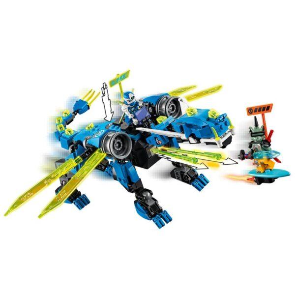 LEGO, Lego Ninjago Αγόρι, Κορίτσι 7-12 ετών LEGO Ninjago Κυβερνοδράκος Του Τζέι 71711