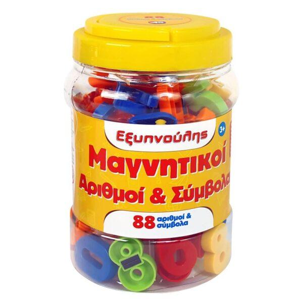 Εξυπνούλης Μαγνητικοί Αριθμοί Και Σύμβολα Βαρελάκι 88Τμχ. 1027-11153  Αγόρι, Κορίτσι 3-4 ετών, 4-5 ετών, 5-7 ετών Clementoni