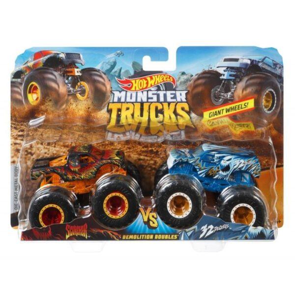 Hot Wheels Οχήματα Monster Trucks Σετ Των 2 - 9 Σχέδια FYJ64 Αγόρι 3-4 ετών, 4-5 ετών, 5-7 ετών  Hot Wheels