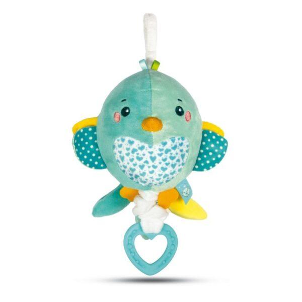 Baby Clementoni Soft Bird Βρεφικό Μουσικό Χνουδωτό Κρεμαστό Πουλάκι 1000-17269 Baby Clementoni Αγόρι, Κορίτσι 0-6 μηνών, 6-12 μηνών
