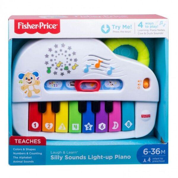 Fisher-Price Laugh And Learn Εκπαιδευτικό Πιάνο Με Φώτα GFV21  Αγόρι, Κορίτσι 12-24 μηνών, 6-12 μηνών Fisher-Price