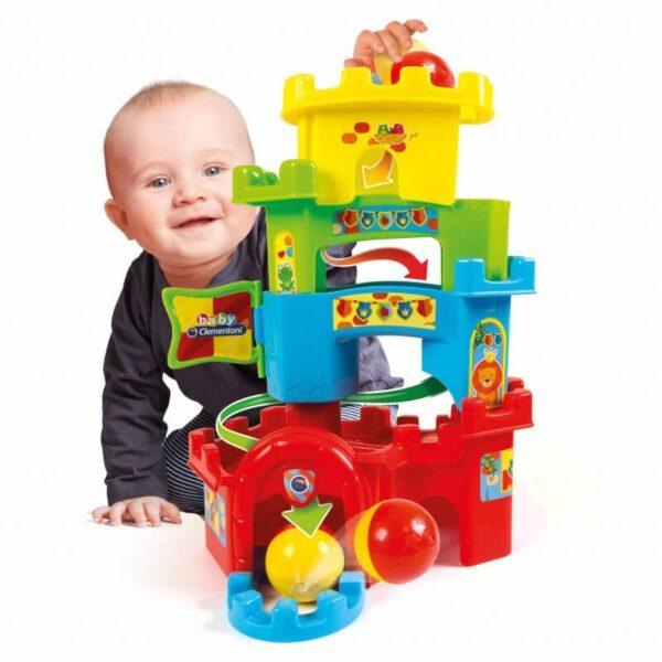 Baby Clementoni Καστράκι Πυραμίδα Με Μπάλα 1000-17226 Baby Clementoni Αγόρι, Κορίτσι 12-24 μηνών, 6-12 μηνών