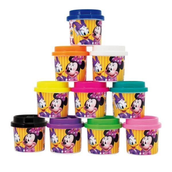 MINNIE, Πλαστελίνα Disney Πλαστελίνα 10 Βαζάκια Πλαστελίνης Σε Σακουλάκι Minnie 1045-03569 Κορίτσι 3-4 ετών, 4-5 ετών, 5-7 ετών