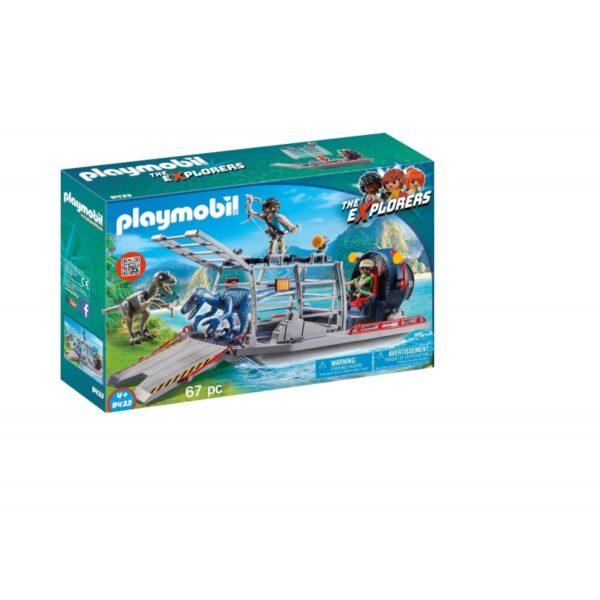 Playmobil Dinos Ταχύπλοο λαθροκυνηγών με κλουβί δεινοσαύρων 9433 Playmobil, Playmobil Dinos Αγόρι 4-5 ετών, 5-7 ετών