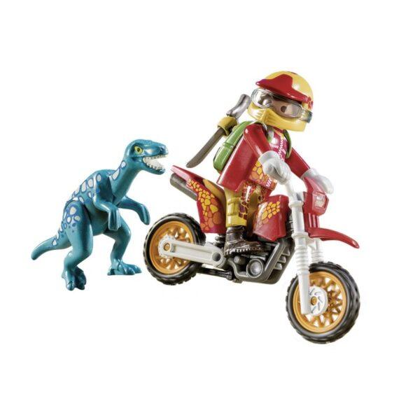 Playmobil Dinos Εξερευνητής με Motocross και μικρό δεινόσαυρο 9431  Αγόρι 4-5 ετών, 5-7 ετών Playmobil, Playmobil Dinos
