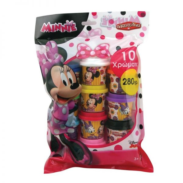 Πλαστελίνα 10 Βαζάκια Πλαστελίνης Σε Σακουλάκι Minnie 1045-03569 MINNIE, Πλαστελίνα Κορίτσι 3-4 ετών, 4-5 ετών, 5-7 ετών Disney