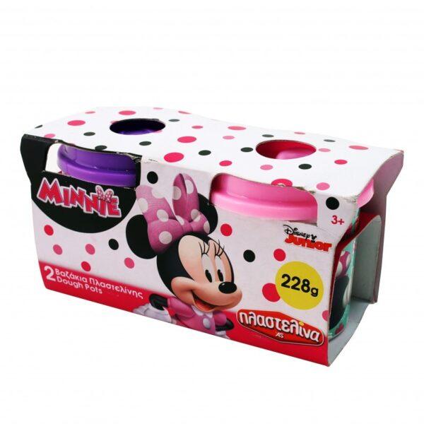 Σετ 2 Βαζάκια Πλαστελίνης Minnie Mouse 1045-03568 Disney Κορίτσι 3-4 ετών, 4-5 ετών, 5-7 ετών MINNIE, Πλαστελίνα