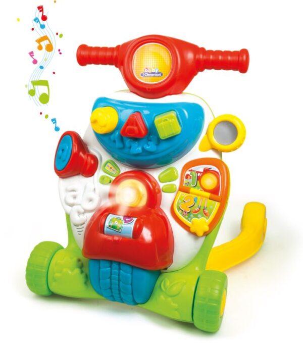 Baby Clementoni Βρεφικό Παιχνίδι Σκουτεράκιας (Μιλάει Ελληνικά) 1000-63167 Baby Clementoni Αγόρι, Κορίτσι 12-24 μηνών, 6-12 μηνών