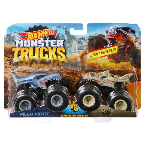 Hot Wheels Οχήματα Monster Trucks Σετ Των 2 - 9 Σχέδια FYJ64 Hot Wheels Αγόρι 3-4 ετών, 4-5 ετών, 5-7 ετών