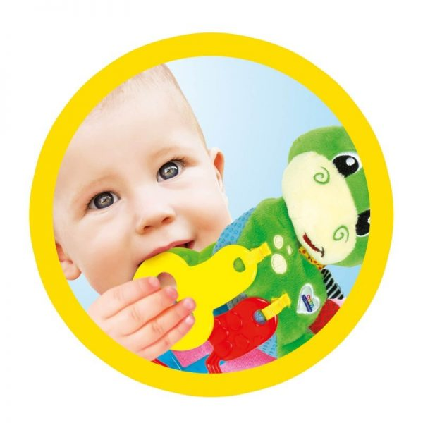 Baby Clementoni Αγόρι, Κορίτσι 0-6 μηνών, 6-12 μηνών Baby Clementoni Βρεφικό Παιχνίδι Κουδουνίστρα Δεινοσαυράκι 2 Σε 1 1000-17215