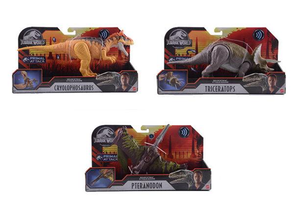Δεινόσαυροι με Κινούμενα Μέλη, Λειτουργία Επίθεσης & Ήχους GJN64 Jurassic World Αγόρι 4-5 ετών, 5-7 ετών Jurassic World