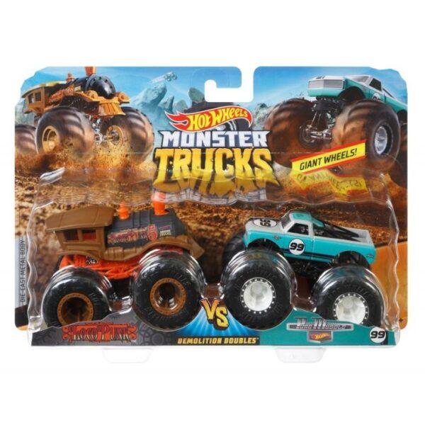 Hot Wheels Οχήματα Monster Trucks Σετ Των 2 - 9 Σχέδια FYJ64 3-4 ετών, 4-5 ετών, 5-7 ετών Αγόρι Hot Wheels