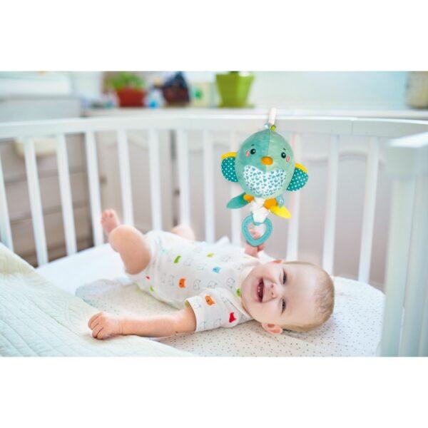 Baby Clementoni Soft Bird Βρεφικό Μουσικό Χνουδωτό Κρεμαστό Πουλάκι 1000-17269 Αγόρι, Κορίτσι 0-6 μηνών, 6-12 μηνών  Baby Clementoni