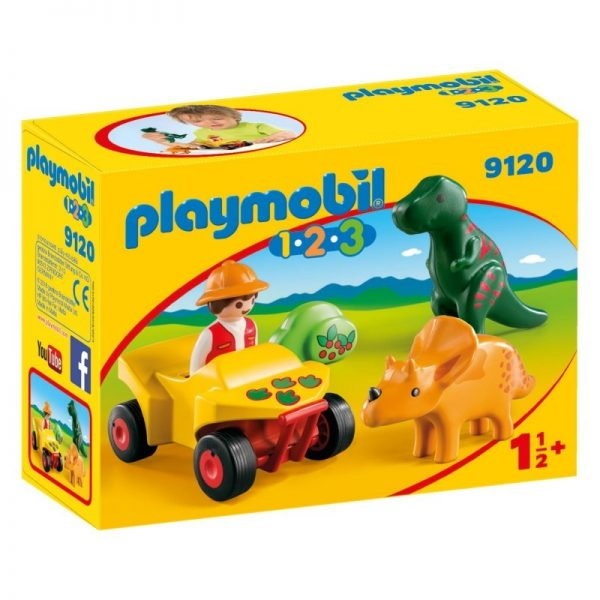 Playmobil 1.2.3 Εξερευνητής με δεινόσαυρους 9120 Playmobil, Playmobil 1.2.3 Αγόρι, Κορίτσι 12-24 μηνών, 2-3 ετών