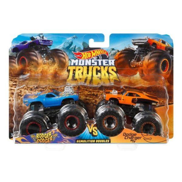Hot Wheels Hot Wheels Οχήματα Monster Trucks Σετ Των 2 - 9 Σχέδια FYJ64 Αγόρι 3-4 ετών, 4-5 ετών, 5-7 ετών