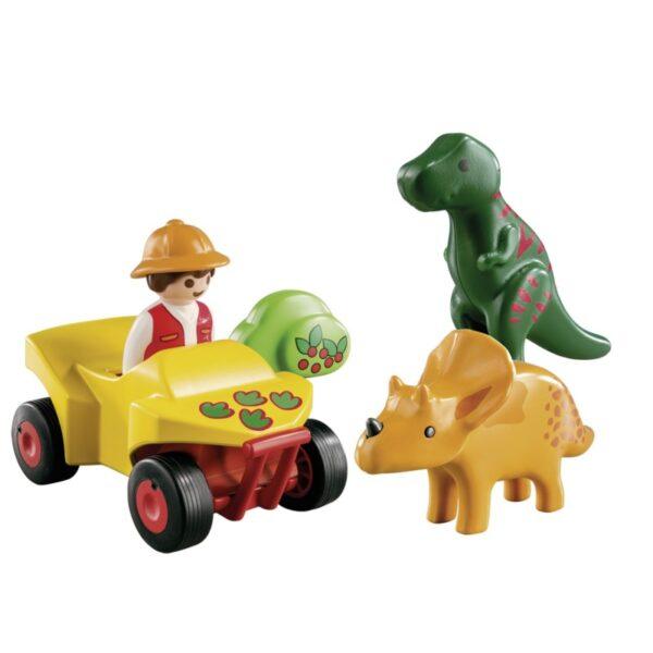 Playmobil 1.2.3 Εξερευνητής με δεινόσαυρους 9120  Αγόρι, Κορίτσι 12-24 μηνών, 2-3 ετών Playmobil, Playmobil 1.2.3