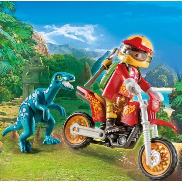 Playmobil, Playmobil Dinos  Playmobil Dinos Εξερευνητής με Motocross και μικρό δεινόσαυρο 9431 Αγόρι 4-5 ετών, 5-7 ετών