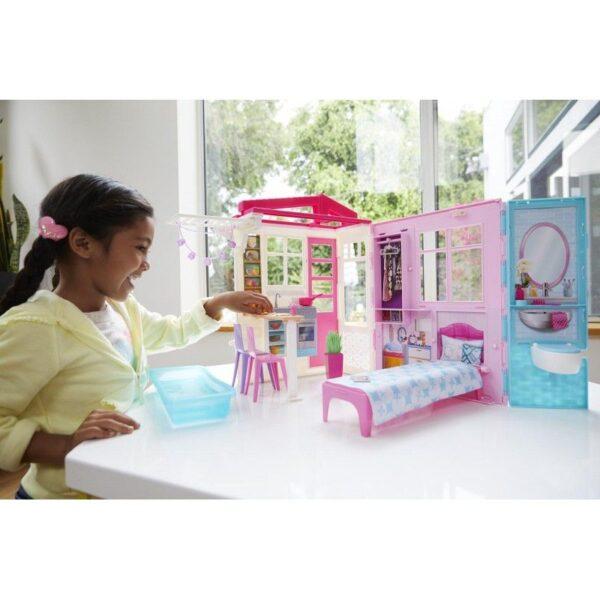 Barbie BARBIE Κορίτσι 3-4 ετών, 4-5 ετών, 5-7 ετών Barbie Νέο Σπιτάκι - Βαλιτσάκι FXG54