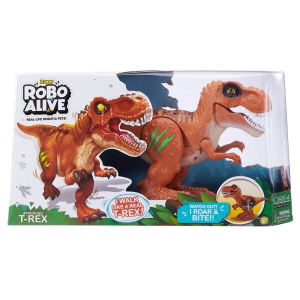 Robo Alive Ηλεκτρονικός Δεινόσαυρος T-Rex - 2 Χρώματα 1863-27110  Αγόρι 3-4 ετών, 4-5 ετών, 5-7 ετών ROBO ALIVE