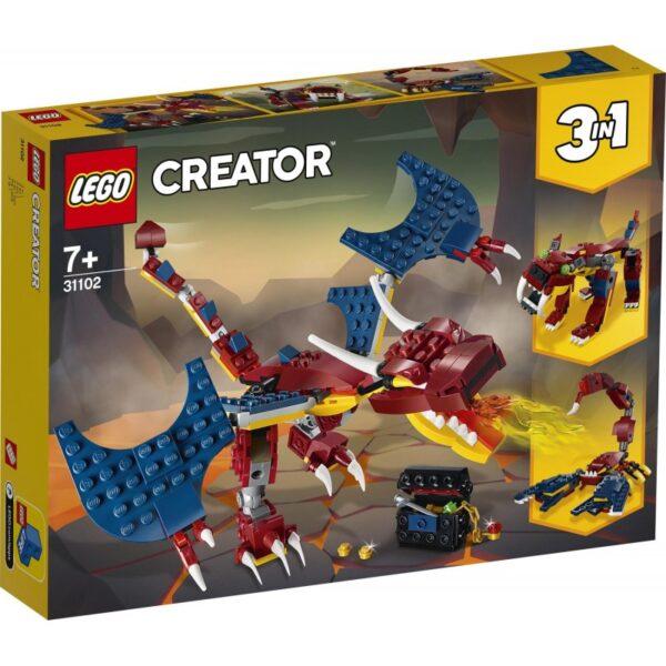 LEGO Creator Δράκος της Φωτιάς 31102 LEGO, Lego Creator Αγόρι, Κορίτσι 7-12 ετών