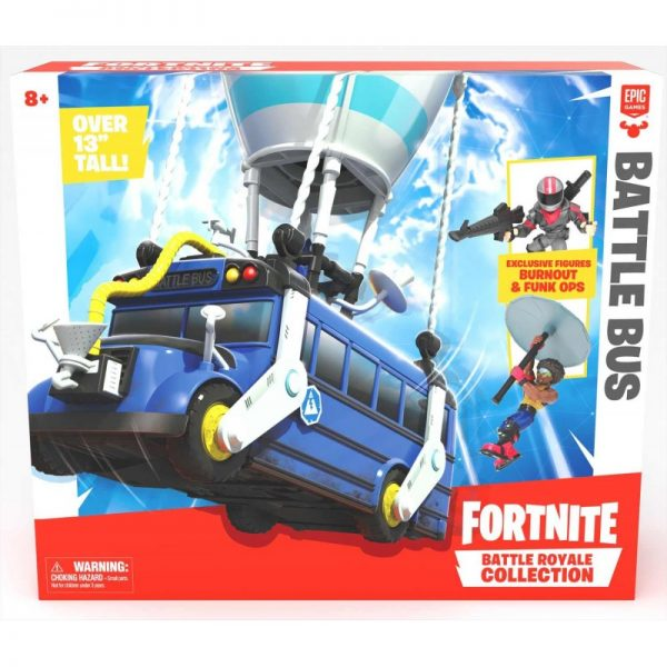 Fortnite Battle Bus Και Δυο Συλλεκτικές Φιγούρες Μίνι FRT35000 Fortnite Αγόρι 3-4 ετών, 7-12 ετών Fortnite