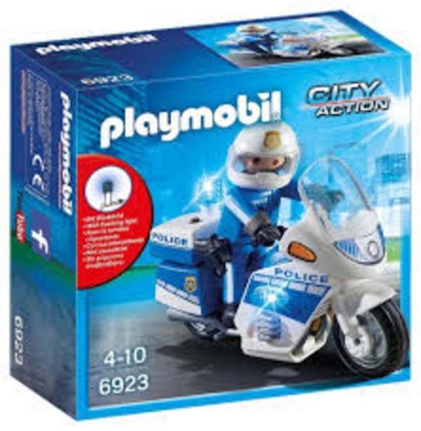 Playmobil, Playmobil City Action  Playmobil Μοτοσικλέτα Αστυνομίας με φάρο Unisex