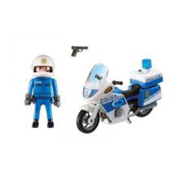 Playmobil Μοτοσικλέτα Αστυνομίας με φάρο  Unisex  Playmobil, Playmobil City Action