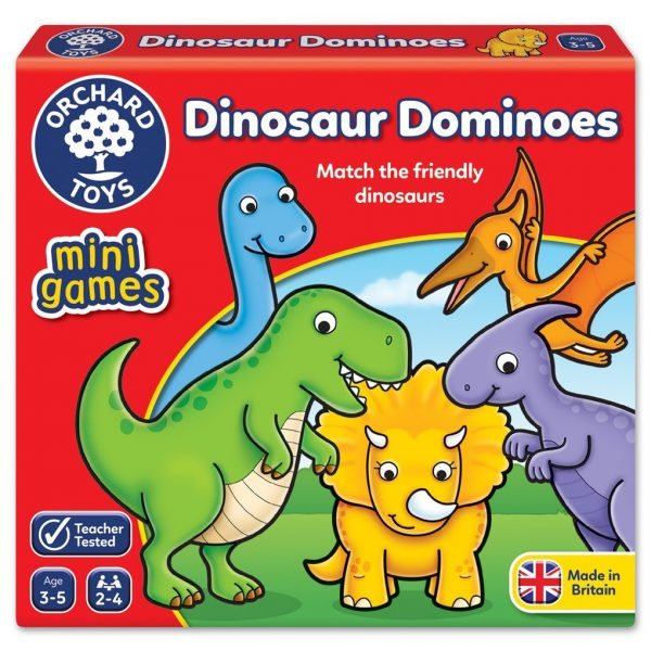 Orchard Toys Dinosaur Dominoes Mini Game ORCHARD TOYS Unisex, Αγόρι, Κορίτσι
