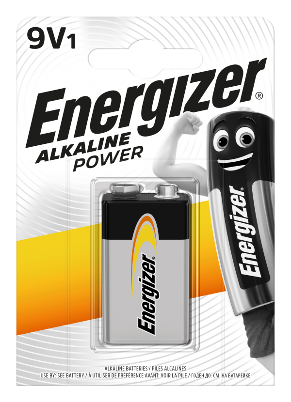 Energizer Αλκαλικές Μπαταρίες Power 9V BP1 F016619 1τμχ Energizer