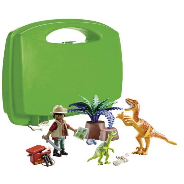 Playmobil Maxi Βαλιτσάκι εξερευνητής & δεινόσαυροι  Unisex, Αγόρι, Κορίτσι  Playmobil, Playmobil Dinos