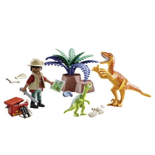 Playmobil, Playmobil Dinos  Playmobil Maxi Βαλιτσάκι εξερευνητής & δεινόσαυροι Unisex, Αγόρι, Κορίτσι