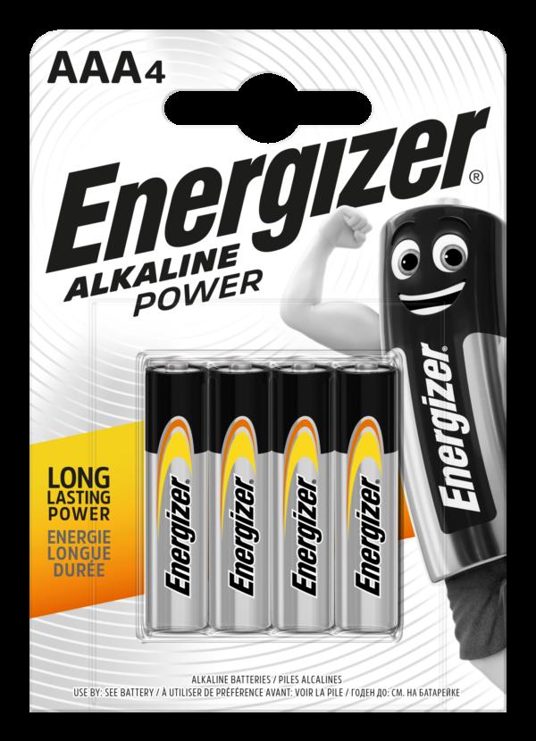 Energizer Αλκαλικές Μπαταρίες Power AAA BP4 F016612 4τμχ Energizer