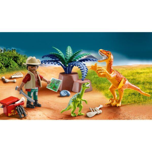 Playmobil, Playmobil Dinos Unisex, Αγόρι, Κορίτσι  Playmobil Maxi Βαλιτσάκι εξερευνητής & δεινόσαυροι