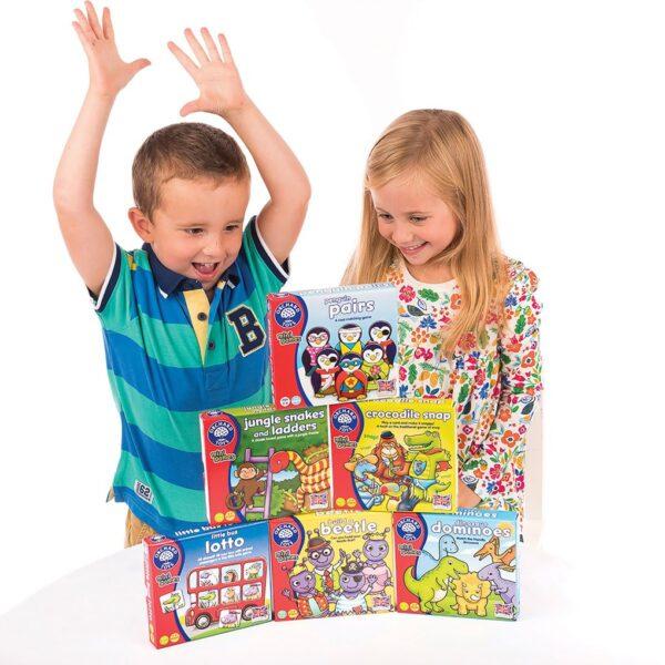 ORCHARD TOYS  Orchard Toys Dinosaur Dominoes Mini Game Unisex, Αγόρι, Κορίτσι