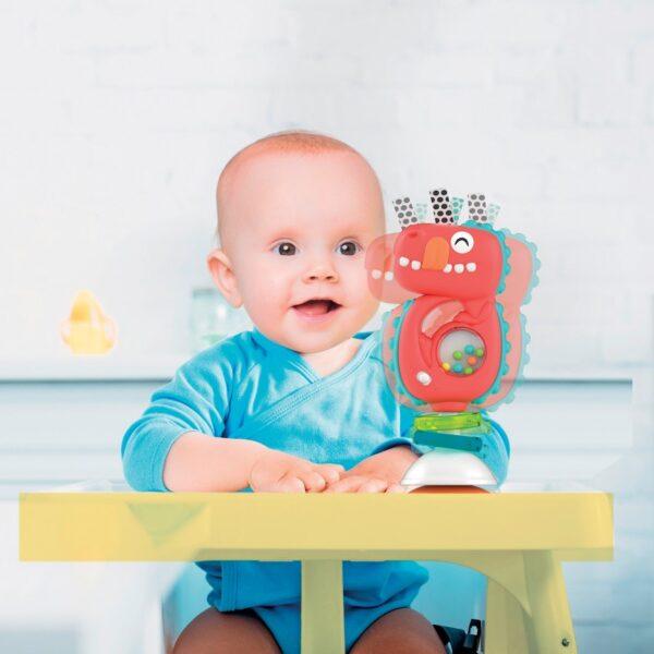 Baby Clementoni  Βρεφικό Παιχνίδι Κρεμαστό Ηλεκτρ. Κουδουνίστρα Δεινόσαυρος 1000-17330 Αγόρι 12-24 μηνών, 6-12 μηνών