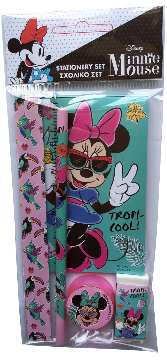 Gim Σετ Σχολικό + Μπλοκ Minnie 340-48755 Disney, MINNIE Κορίτσι