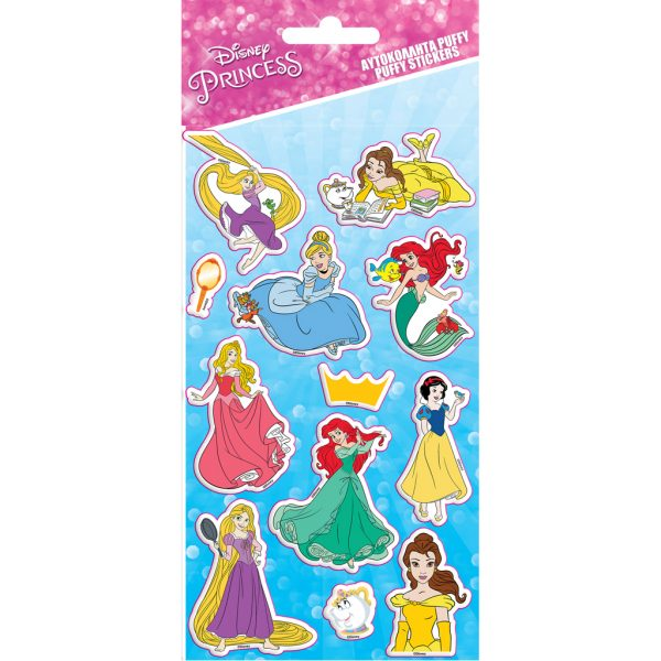 Αυτοκόλλητα Puffy Disney Princess 10x22 εκ. PRINCESS Κορίτσι  Disney