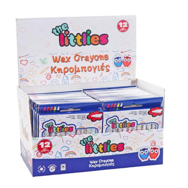 Κηρομπογιές The littlies 12 Χρώματα  Αγόρι, Κορίτσι  the littlies