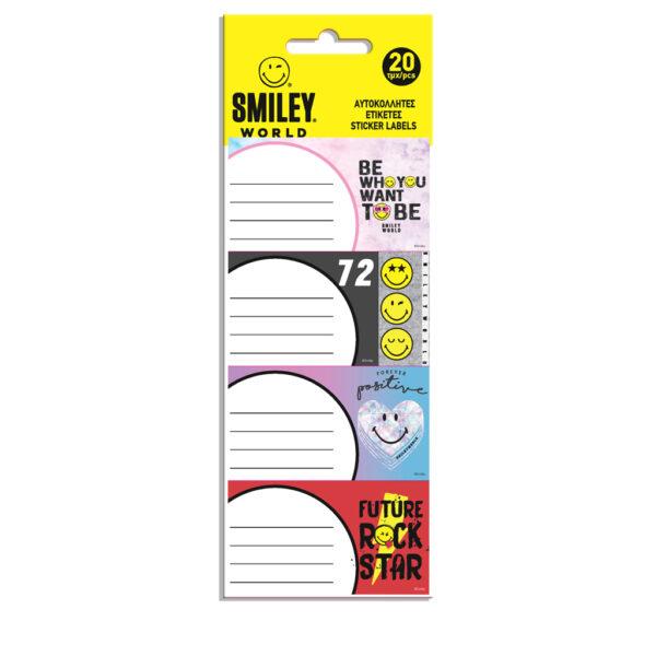 Ετικέτες Αυτοκόλλητες Smiley 20 Τμχ. σε 5 Σχέδια SMILEY Αγόρι, Κορίτσι