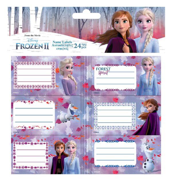 Ετικέτες Αυτοκόλλητες Diney Frozen 2 24 Τμχ. σε 5 Σχέδια FROZEN Κορίτσι  Frozen