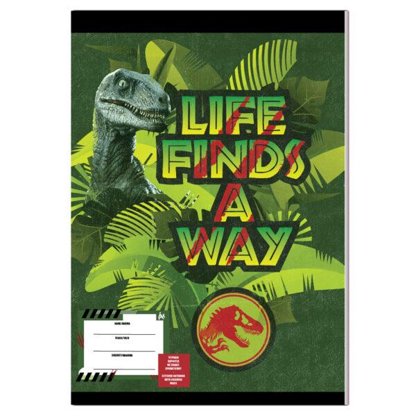 Τετράδιο Καρφίτσα Jurassic World 40 φύλλα σε 2 Σχέδια, 17x25 εκ. Jurassic World Κορίτσι  Jurassic World
