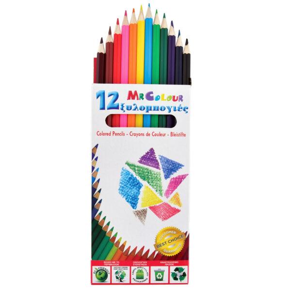 ΤΣΑ-ΦΑΛ  Ξυλομπογιά  12Χρώματα μεγαλη σε κουτι, Σ0653 ΤΣΑ-ΦΑΛ