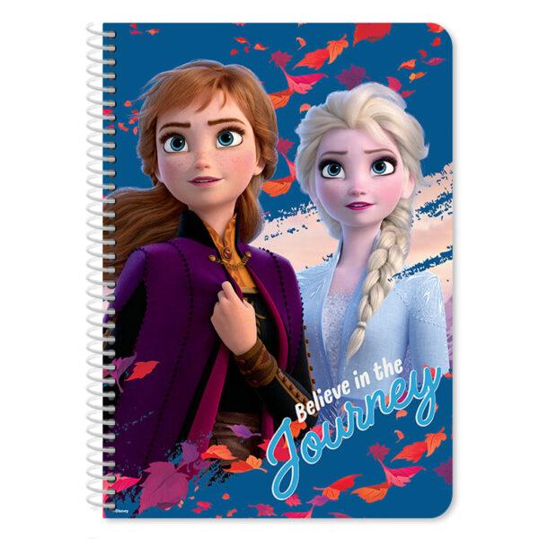 Τετράδιο Σπιράλ Β5 Disney Frozen 2 2 Θεμάτων, 60 Φύλλων must Αγόρι, Κορίτσι  Frozen