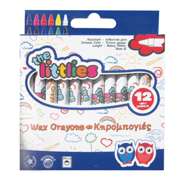 Κηρομπογιές The littlies 12 Χρώματα the littlies Αγόρι, Κορίτσι