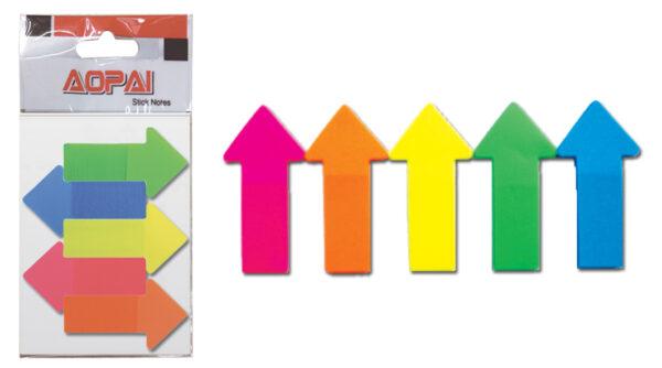ΤΣΑ-ΦΑΛ  Σετ (5x25) Αυτοκόλλητοι pet Σελιδοδείκτες βελη,  Σ3125 ΤΣΑ-ΦΑΛ