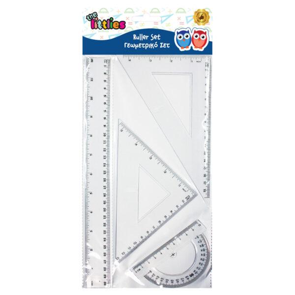 Γεωμετρικό Σετ The littlies 4 Τμχ. (χάρακας 30 εκ., 2 τρίγωνα, μοιρογνωμόνιο) the littlies Αγόρι, Κορίτσι