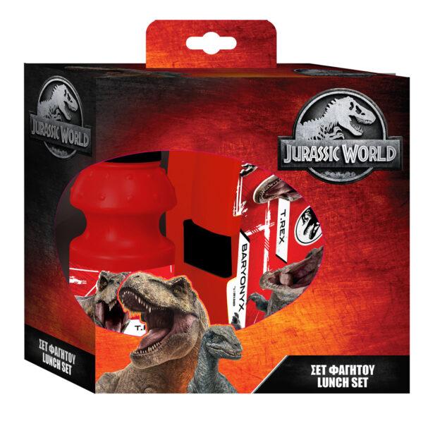 Σετ Φαγητού Jurassic World με Φαγητοδοχείο 16x6,5x11 εκ. - Παγούρι Πλαστικό 350 ml NOVA RICO Αγόρι, Κορίτσι  Jurassic World