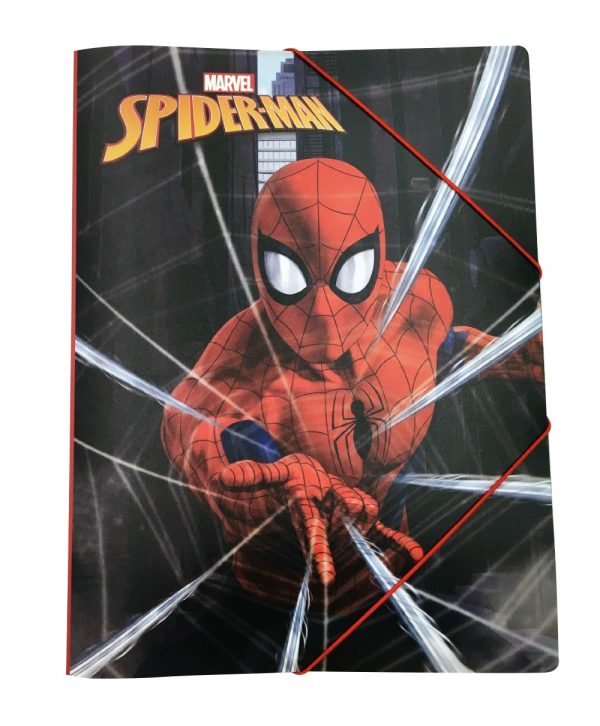 Gim  Ντοσιέ Λάστιχο.ρρ α4 Spiderman 337-75515 Gim   Spiderman